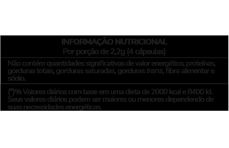 Informação Nutricional - GUARANÁ
