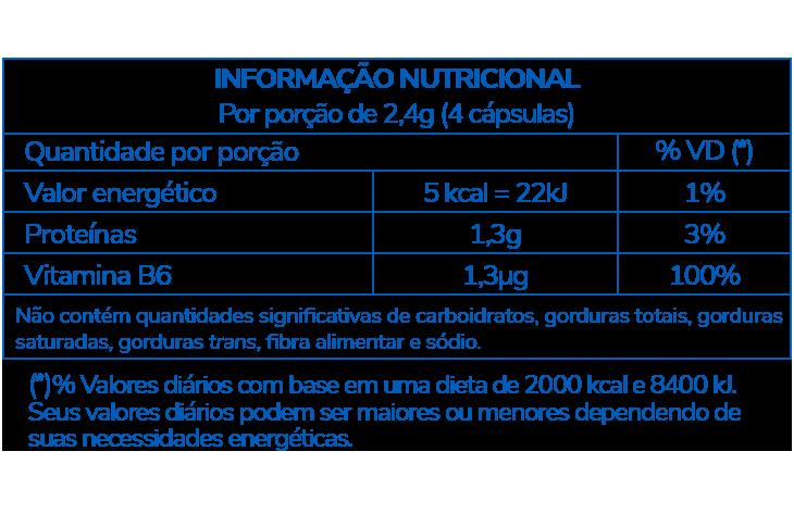 Informação Nutricional - LEVEDO DE CERVEJA